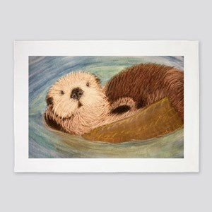 Sea Otter--Endangered Species 5'x7'Area Rug